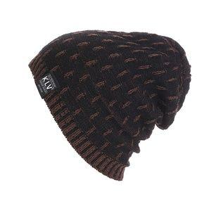 Black Soft Knitted Lightweight Wool Slouchy Beanie